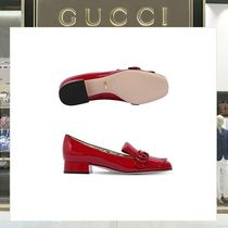 18SS GUCCI ☆25MM MARMONT パテントレザーパンプス レッド