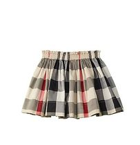 SALE☆Burberry☆ Girls' Checked A-Line ウエストゴムスカート