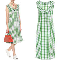 MM458 GINGHAM CHECKED SLEEVELESS DRESS