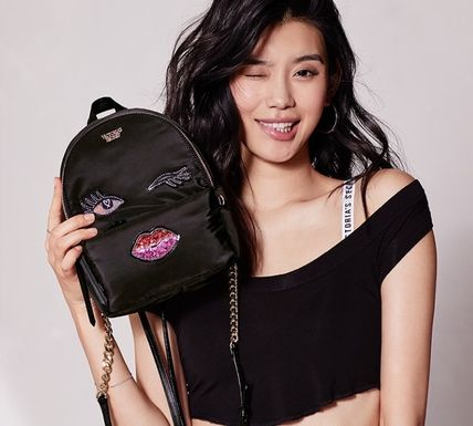Victoria's Secret バックパック・リュック 超新作 Victoria's secret Runway Patch Small City Backpack VS(3)