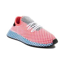 Womens adidas Deerupt Athletic ShoeRed/Blue 436542411