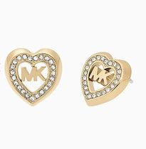 Michael Kors*gold heart stud earrings