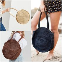 【Urban Outfitters】Large Circle Straw Shoulder Bag