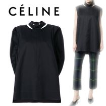 【18SS】大注目★CELINE★slit detail oversize top