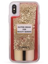 国内在庫有!★IPHORIA★リキッド'Glitter Cream' iPhone Xケース