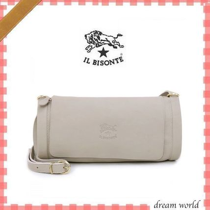 ★IL BISONTE★ イルビゾンテ  ショルダーバッグ  TAUPE ♪