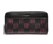 ☆COACH☆ACCORDION WALLET WITH CHECKER PRINT☆iPhone-X収納可