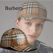 Burberry 2018SS Laminated Vintage Check ベースボールキャップ