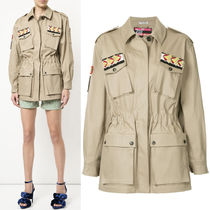 MM479 COTTON MILITARY JACKET WITH APPLIQUE