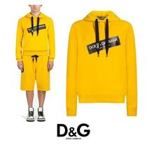 【Dolce & Gabbana】COTTON SWEATSHIRT WITH PATCHES AND HOOD