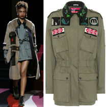 MM491 LOOK35 EMBELLISHED MILITARY JACKET