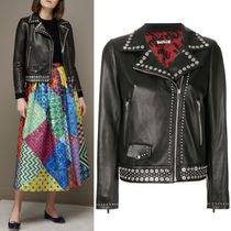 MM492 EMBELLISHED BIKER JACKET