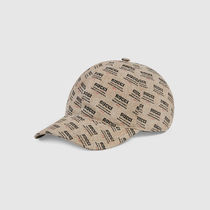 18SS GUCCI キャップ Gucci stamp print canvas baseball hat