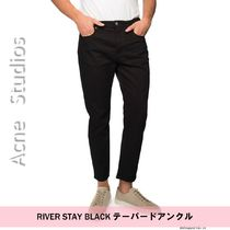 Acne Studios Bla Konst :: River stay black :: Cropped jeans