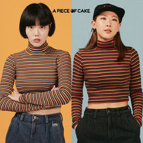 A PIECE OF CAKE(ピースオブケイク) Tシャツ・カットソー ★A PIECE OF CAKE★ Oval Logo Crop Top