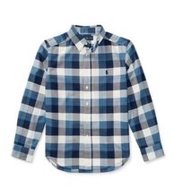 新作!大人もOK♪ Plaid Cotton Oxford Shirt boys 8~20