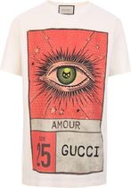 GUCCI●ss18 Cute Amour Eye プリント コットン Tシャツ