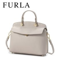 18SS ☆FURLA☆ MY PIPER TOP HANDLE S 2wayバッグ VANIGLIA♪