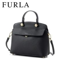 18SS ☆FURLA☆ MY PIPER TOP HANDLE S 2wayバッグ ONYX♪