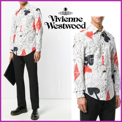 Vivienne Westwood HOUSE OF CARD プリントシャツ  ホワイト