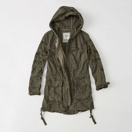 Abercrombie & Fitch ジャケット これからの季節に薄手Womens Embroidered Twill Parka(2)