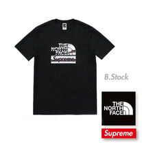 18 S/S 国内発送 Supreme The North Face Metallic Logo T-Shirt