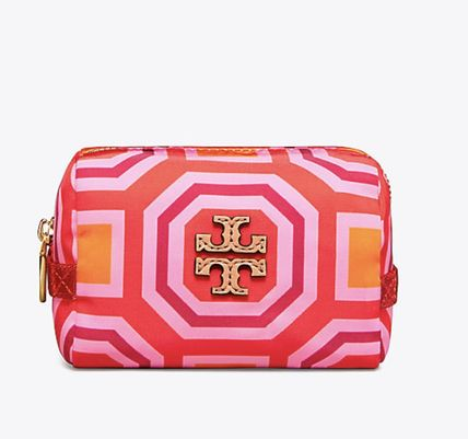 Tory Burch メイクポーチ Tory Burch PRINTED NYLON SMALL COSMETIC CASE