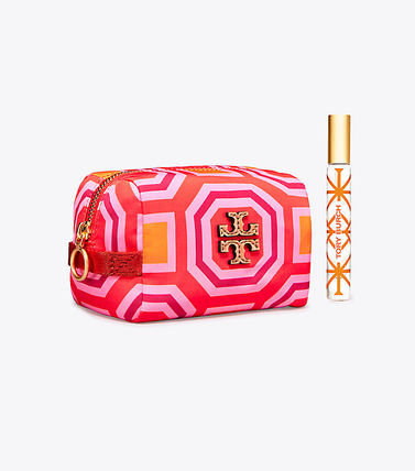 Tory Burch メイクポーチ Tory Burch PRINTED NYLON SMALL COSMETIC CASE(2)