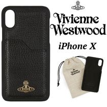 ◆VivienneWestwood◆カードポケット付♪Iphone X レザーCase