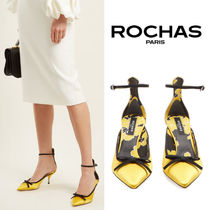 【18SS】大注目!!★Rochas★Bow-embellished satin pumps