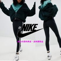 NIKE☆Archive Leggings In Black With Piped Trim♪