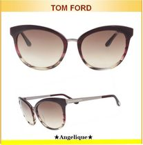 TOM FORD☆EMMA PLUM/BROWN CATEYE SUNGLASSES FT0461/S 71F