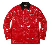 18SS☆Supreme Quilted Patent  Work Jacket ワークジャケット