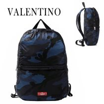 VALENTINO正規品/EMS発送/送料込みCamo Plage Foldable Backpack