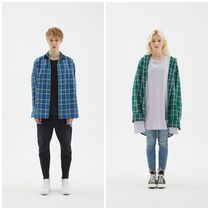 INDIGO CHILDRENのOVERSIZED PLAID CHECK TAIL SHIRT 全2色