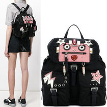 PR1061 NYLON BACKPACK WITH ROBOT APPLIQUE