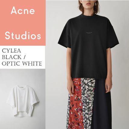Acne Tシャツ・カットソー [Acne] Cylea T-shirt フロントロゴ入ボクシーTシャツ2色