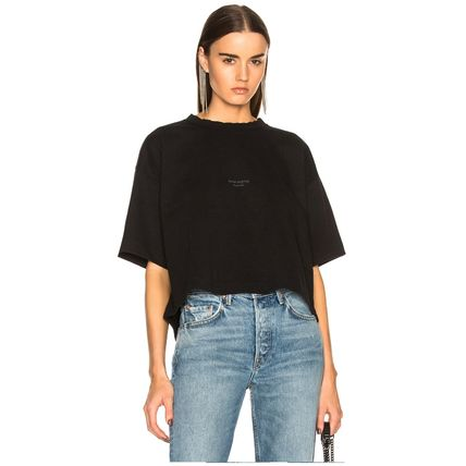 Acne Tシャツ・カットソー [Acne] Cylea T-shirt フロントロゴ入ボクシーTシャツ2色(2)