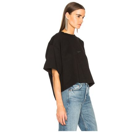 Acne Tシャツ・カットソー [Acne] Cylea T-shirt フロントロゴ入ボクシーTシャツ2色(3)