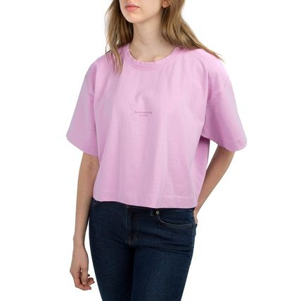 Acne Tシャツ・カットソー [Acne] Cylea T-shirt フロントロゴ入ボクシーTシャツ2色(6)