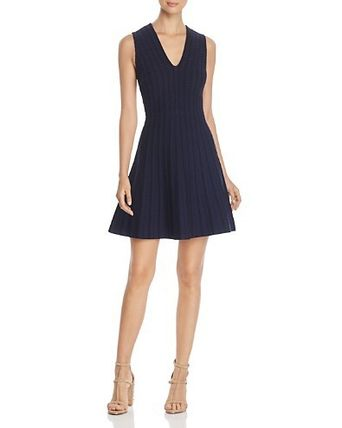 kate spade new york Textured Fit-and-Flare Sweater Dress