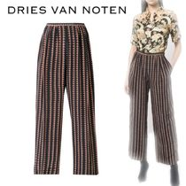 【18SS】★Dries Van Noten★checked pleated wide-leg trousers
