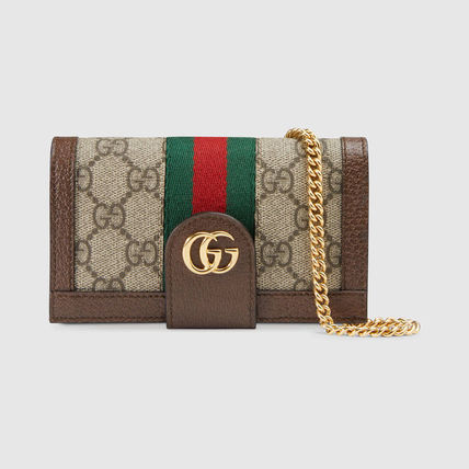 GUCCI iPhone・スマホケース 日本未【追跡付】GUCCI★Ophidia チェーン付き iPhone7/8ケース