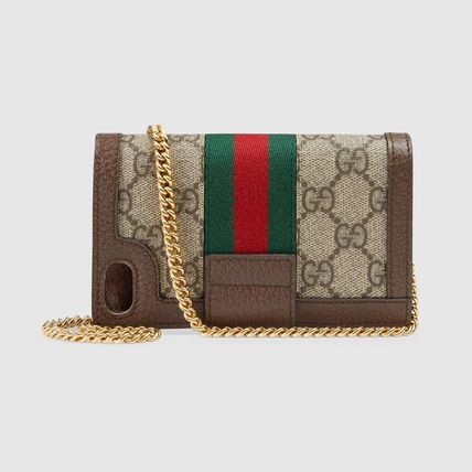 GUCCI iPhone・スマホケース 日本未【追跡付】GUCCI★Ophidia チェーン付き iPhone7/8ケース(2)