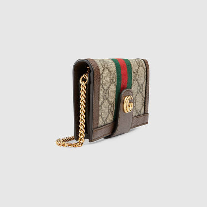 GUCCI iPhone・スマホケース 日本未【追跡付】GUCCI★Ophidia チェーン付き iPhone7/8ケース(3)