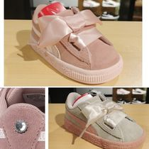 PUMA(プーマ) ベビースニーカー PUMA KIDS☆SUEDE HEART JEWEL INF リボン (13‐16㎝)365140