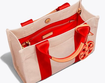 Tory Burch トートバッグ 最新作限定セール トリーバーチ 2WAY MILLER CANVAS MINI TOTE(5)