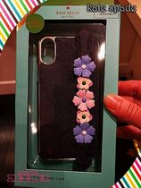 kate spade☆floral hand stap stand- X フラワー付きiphone