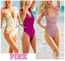 PINK♡SHINE RUFFLE DEEP-V ONE-PIECEラッフルワンピース
