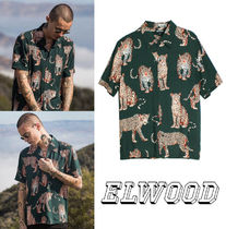 Elwood Clothing Green Leopard Button Up アニマル 柄シャツ